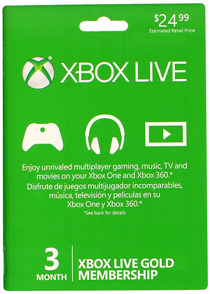 Xbox Live 3 Month Subscription [region free]