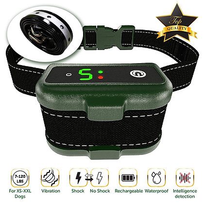 Rechargeable Bark Collar w/Triple Stop Anti Barking Modes