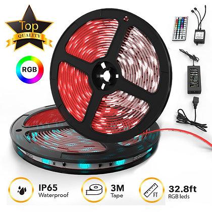 LED Strip Lights Kit 32.8ft w/ Extra Adhesive 3M Tape