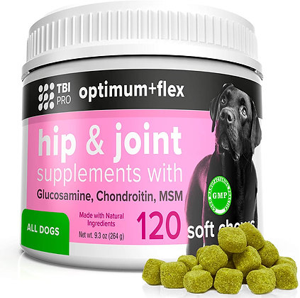 TBI Pro Optimum+Flex |Premium| Soft Chews Dog Joint Supplement