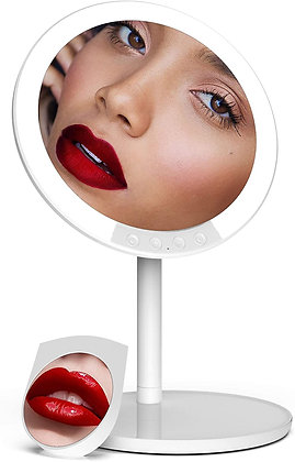 Makeup Mirror with Lights, 66 LED Lighted with Detachable 7X Magnifying Mirror