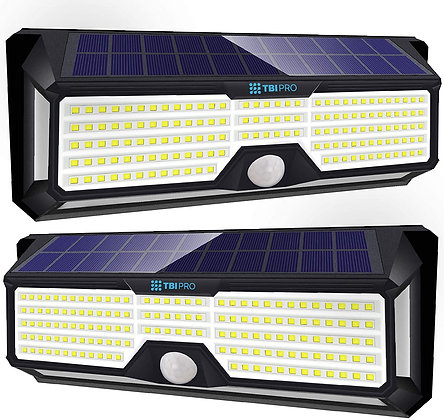 Solar Lights Outdoor Super-Bright 298 LEDs 2500  (2-Pack)lm