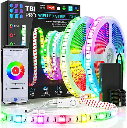 [Upgraded 2020] WiFi LED Strip Lights 32.8ft by TBI Waterproof Smart Works