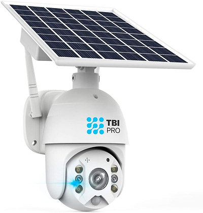 RaVision Pan Tilt Solar Security Camera Outdoor Wireless - WiFi Home Security