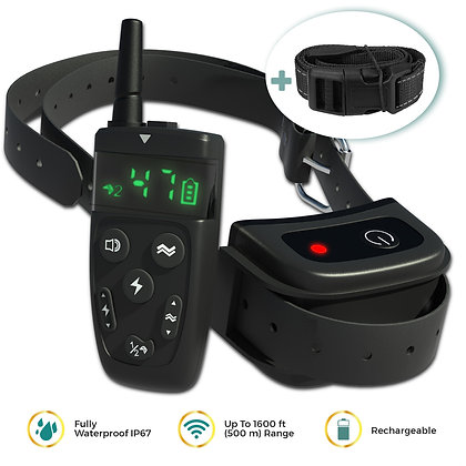 Dog Training Collar with Remote, Long Range 1600', Shock/Vibration Control
