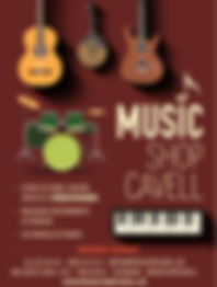 Flyer du Magasin de Musique à Uccle