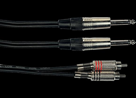 Cable Audio 2 rca - 2 jack, 3 m