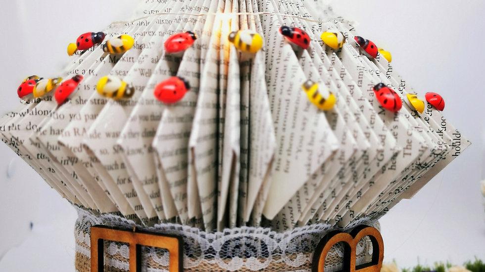 Folded Book Fairy House