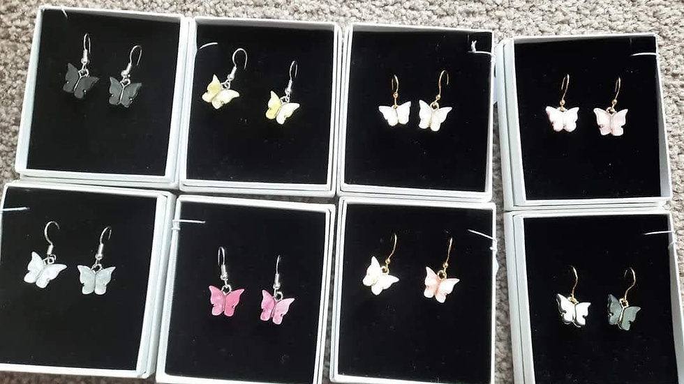 Butterfly Earrings- Sterling Silver/ 9ct Gold Plated