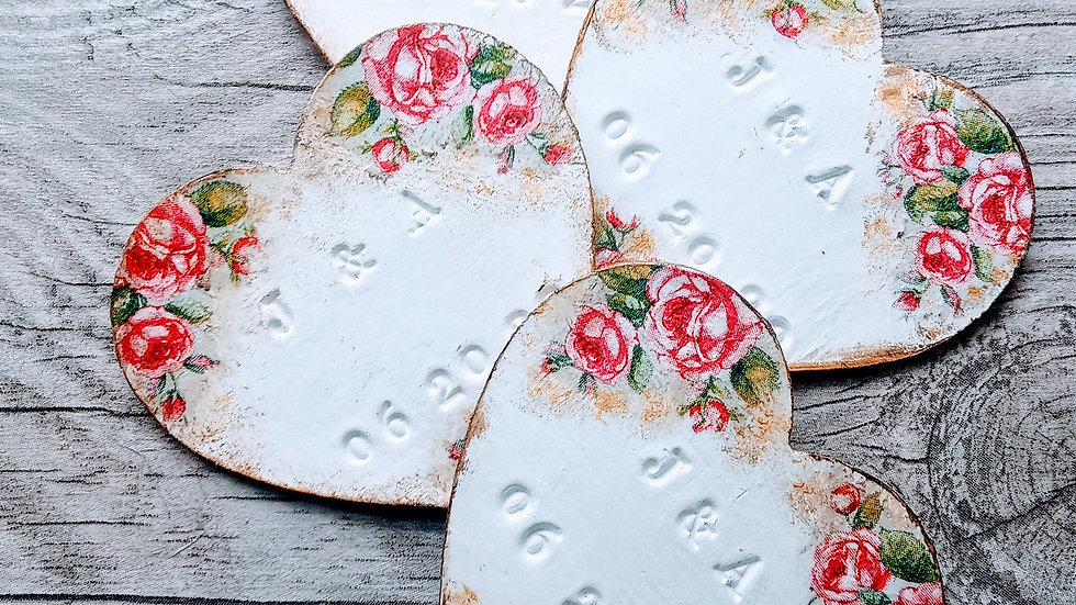Wedding Favours Clay Tag