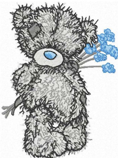 Tatty Teddy- Blue Flower