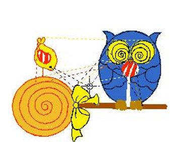 Owl lolliepop