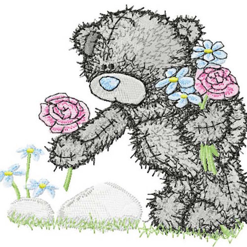 Tatty Teddy - Picking roses