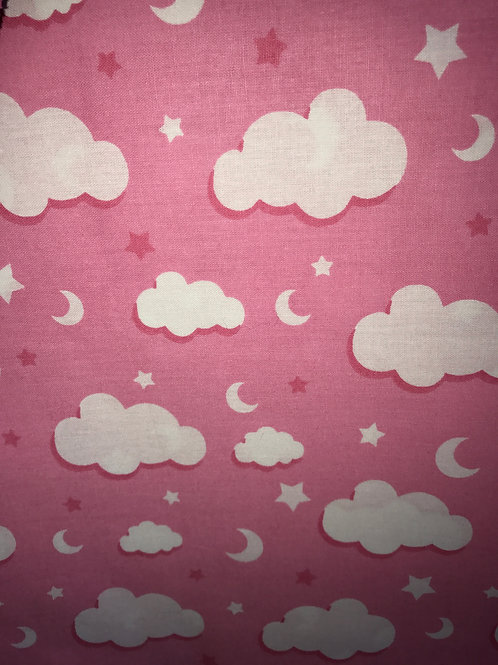 Pink with White Clouds