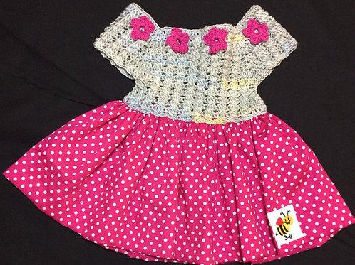 Summer Dresses - Pink polka dots (3-6m)