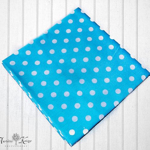 Blue polka dots - Receiving Blankets
