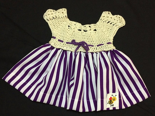 Summer Dresses - Purple stripes (3-6m)