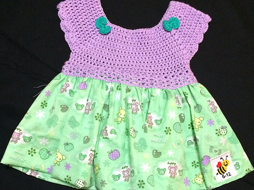 Summer Dresses - Purple and Green (6-12m)
