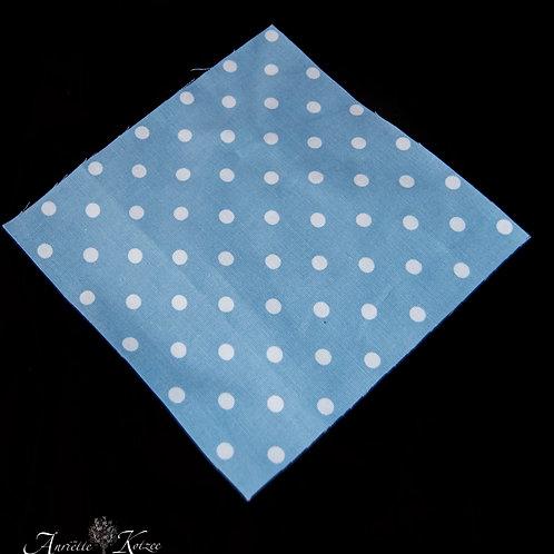 Cot Textiles - Blue polka dots
