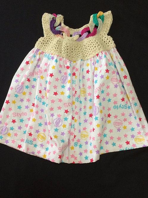 Summer dress - Stars (5 - 6 Years)