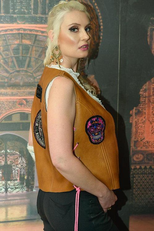 Ladies Leather waistcoat