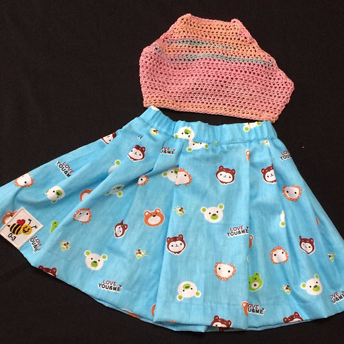 Summer Dress - Teddy (0-3 m)