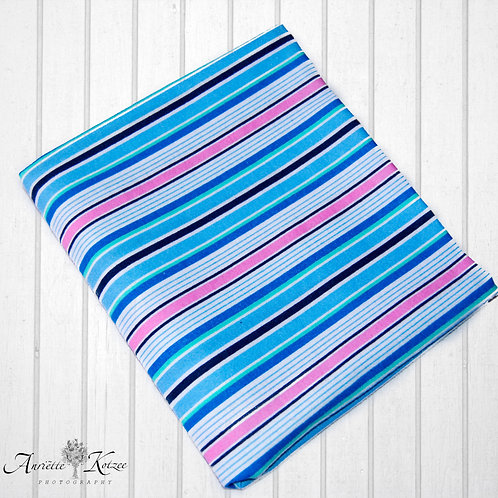 Pink and Blue stripes - Receiving Blankets