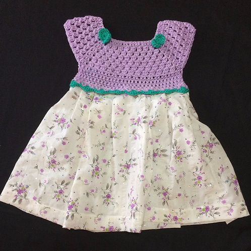 Summer dress - Purple flowers (18 - 24 m)