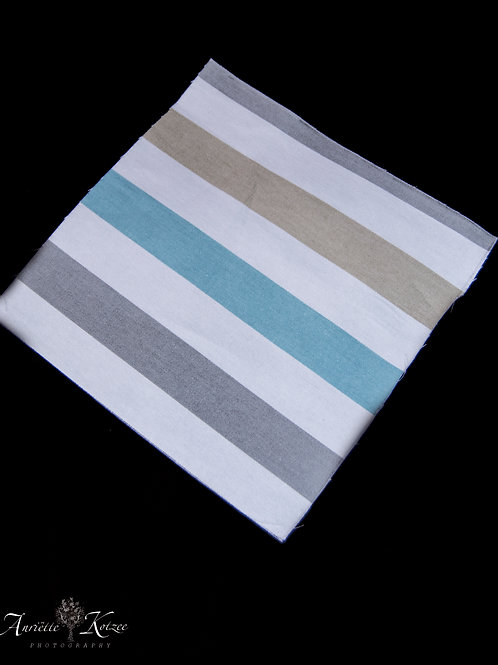 Cot Textiles - Blue and grey stripes