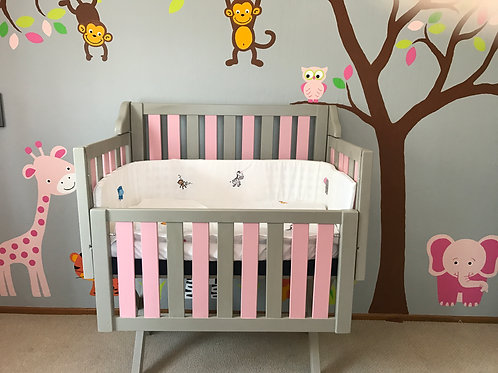 Pink and Grey Cot