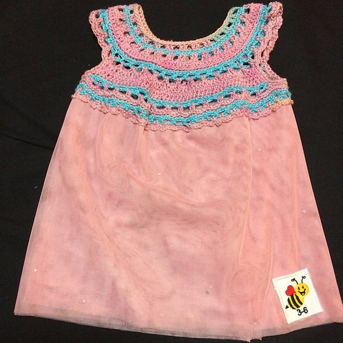 Summer Dresses - Pink and blue (3-6m)