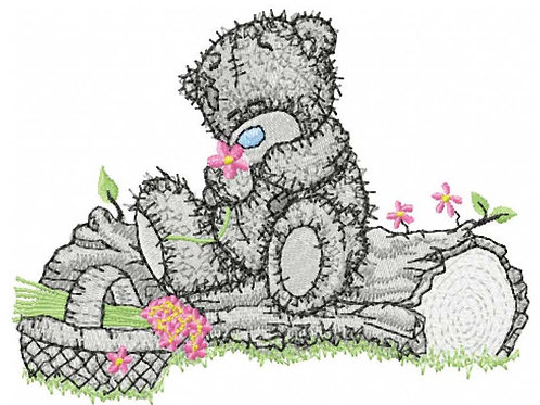 Tatty Teddy - Tree stump
