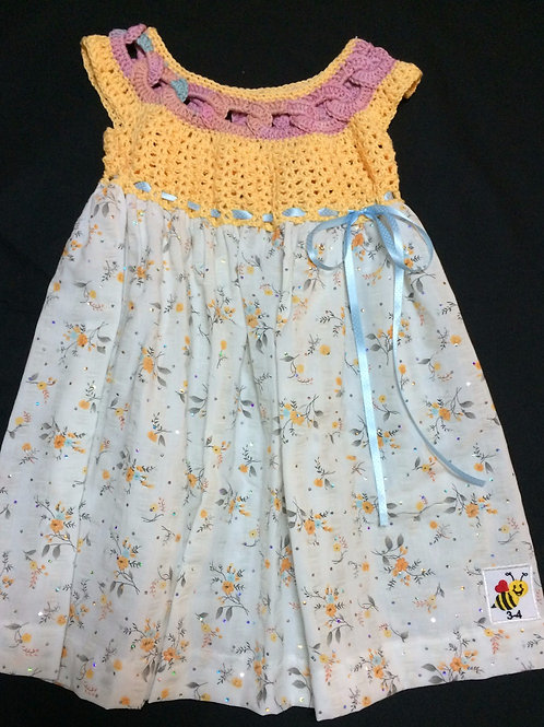 Summer Dresses - Yellow and blue (3-4 years)