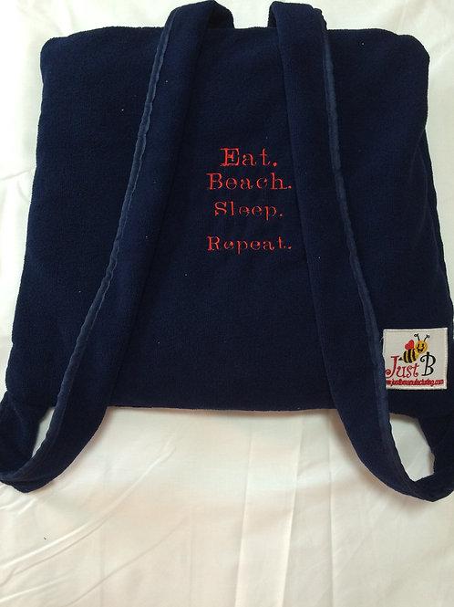 Towel in a Bag - Navy
