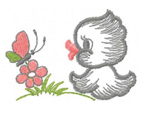 Chicken and flower