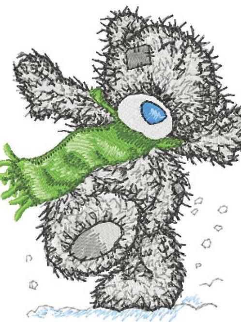 Tatty Teddy - Green Scarf