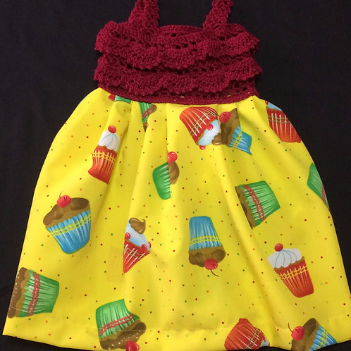 Summer Dress - Yellow Cupcakes (18-24m)