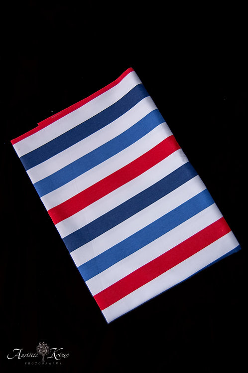 Cot Textiles - Red and blue stripes