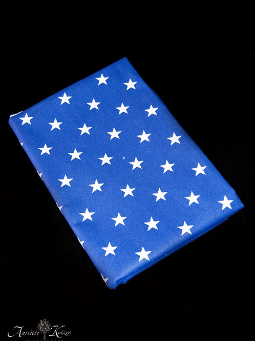 Cot Textiles - Light Blue stars