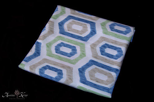 Cot Textiles - Blue and green blocks