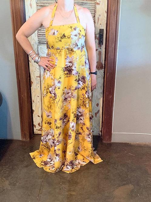 Halterneck Knot Back Summer Dress