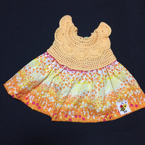 Summer Dress Orange (3-6m)