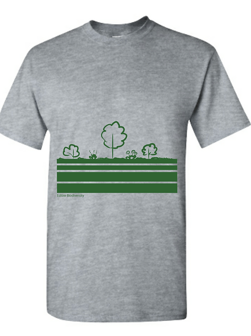 Edible Diversity Layers T-shirt (Forest Green)