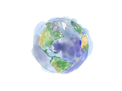 Our Earth (Original watercolour sketch)