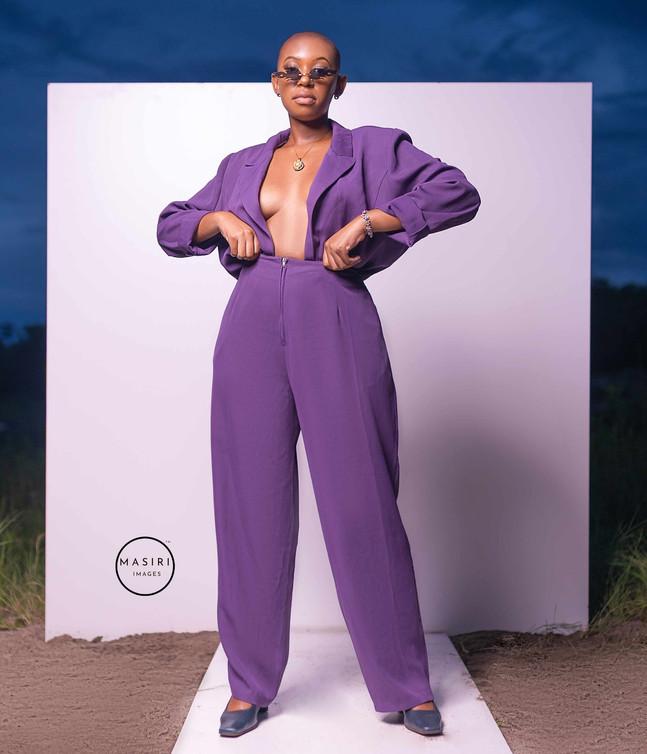 Zina, in  purple