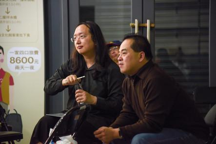 政務委員唐鳳於記者會後蒞臨 , 到場與社區夥伴 、社福團體及裕隆集團代表交流互動 。