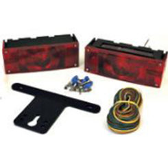 """Trailer Light Kit, Low Profile Over 80"""" by Attwood #14063-7"""
