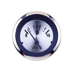 """Sierra 63478P Sterling 8-18 Vdc Dial Range Scratch Resistant System Voltmeter 2"""""""