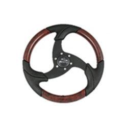 "14.2"" black folletto wheel, black spokes, decorated burl insert, 3/4T, PU021111"