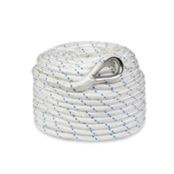 "Premium Double Braided Nylon Anchor Rope w/ Thimble 3/8"" x 100'"